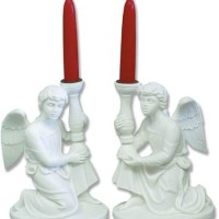 Kneeling Angels Candleholders Set