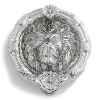 Lion Head Door Knocker, chrome