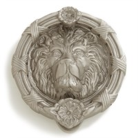 Lion Head Door Knocker, nickel