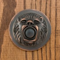 Lion Mouth Doorbell, bronze