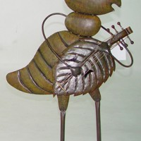 Mandolin Player Cricket Garden Decor