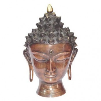 Meditating Copper Buddha Head