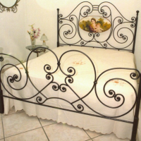 Mother & Child Wrought Iron Bed