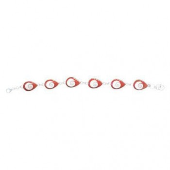 Nautilus Shell Bracelet, red