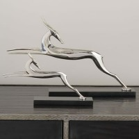 Nickel Art Deco Antelope