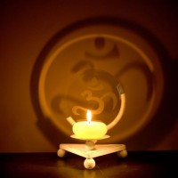 Om Symbol Projection Candle Holder