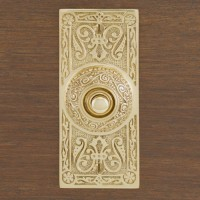 Osiris Doorbell, polished brass