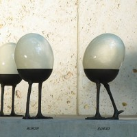 Ostrich Egg Garden Sculpture