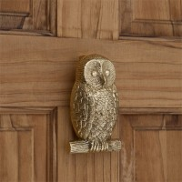 Owl Door Knocker, brass