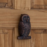 Owl Door Knocker, bronze