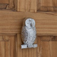 Owl Door Knocker, chrome