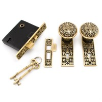 Pot of Flowers Mortise Lock Set