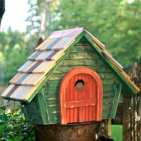 Prairie Home Bird House, green