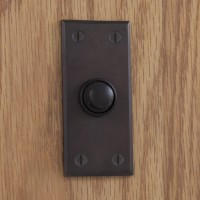 Rectangular Doorbell, bronze