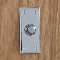 Rectangular Doorbell, chrome