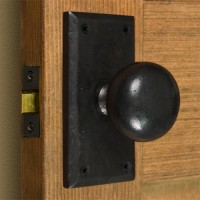 Rectangular Solid Bronze Knob Set