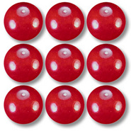 Red 14mm Round Marbles