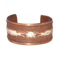 Red Copper & Inset Brass Cuff