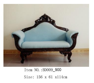 Robin's Egg Blue Couch