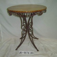 Round Top Wrought Iron Table
