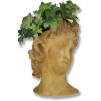 Sandstone Apollo Bust Planter