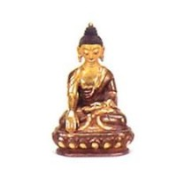 Small Gold Faced Buddha Statuette, mudra 1