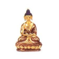 Small Gold Faced Buddha Statuette, mudra 2