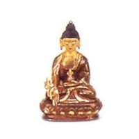 Small Gold Faced Buddha Statuette, mudra 3
