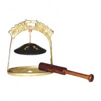 Small Tingshya Bell with Wood Mallet