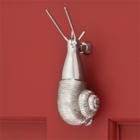 Snail Door Knocker, chrome