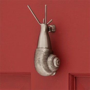 Snail Door Knocker, nickel