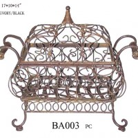 Square Wrought Iron Serving Dish