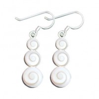 Stacked Nautilus Shell Earrings