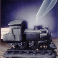 Steam Engine Incense Burner