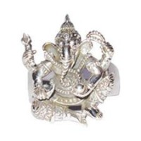 Sterling SIlver Ganesh Ring
