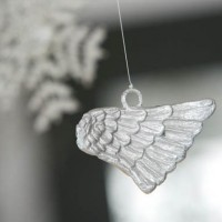 Sterling Silver Angel Wing Ornament