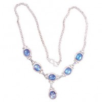 Sterling Silver Moonstone Necklace, Nepal