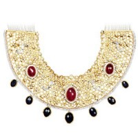 Stunning 24K Gold Collar Necklace