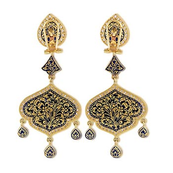 Stunning 24K Gold Maharaja Earrings