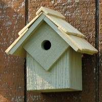 Summer Home Bird House, gray