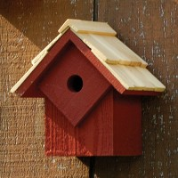 Summer Home Bird House, red