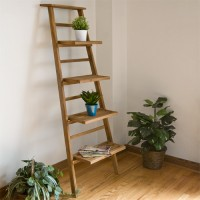 Teak Wood Plant Shelves