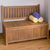 Teak Wood Storage Bench