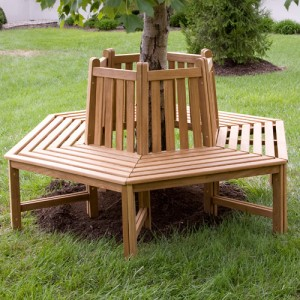 Teak Wood Tree Bench