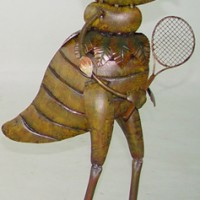 Tennis Player Cricket Garden Decor