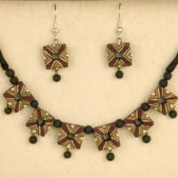 Terracotta Shield Necklace Set