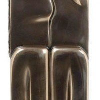 The Kiss Candleholder, bronze