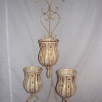 Three Candle Wall Sconce, white