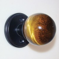 Tiger's Eye Door Knob Set