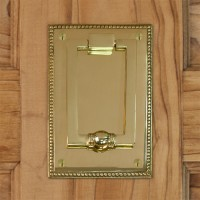Tolstoy Door Knocker, brass